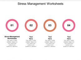 Stress Management Worksheets Ppt Powerpoint Presentation Professional Introduction Cpb