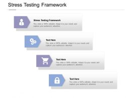 Stress Testing Framework Ppt Powerpoint Presentation Layouts Guidelines Cpb