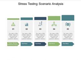 Stress Testing Scenario Analysis Ppt Powerpoint Presentation Visual Aids Ideas Cpb
