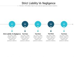 Strict Liability Vs Negligence Ppt Powerpoint Presentation Inspiration Cpb