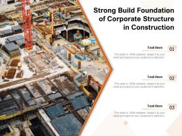 Strong Build Foundation Of Corporate Structure In Construction