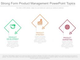 Strong Form Product Management Powerpoint Topics