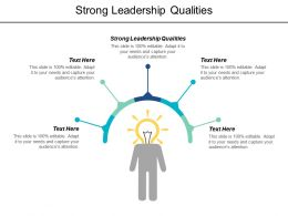 Strong Leadership Qualities Ppt Powerpoint Presentation Visual Aids Styles Cpb
