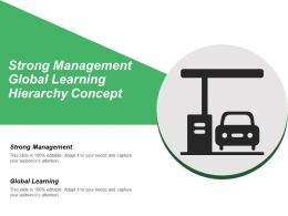 Strong Management Global Learning Hierarchy Concept