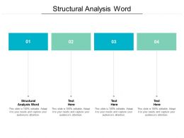 Structural Analysis Word Ppt Powerpoint Presentation Outline Professional Cpb