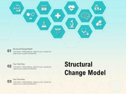 Structural Change Model Ppt Powerpoint Presentation Slides Portrait