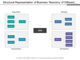 Structural Representation Of Business Taxonomy Of Different Divisions