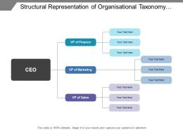Structural Representation Of Organisational Taxonomy Covering Different Divisions