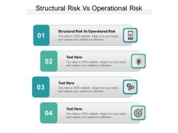 Structural Risk Vs Operational Risk Ppt Powerpoint Presentation Pictures Example File Cpb