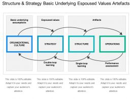 Structure And Strategy Basic Underlying Espoused Values Artifacts