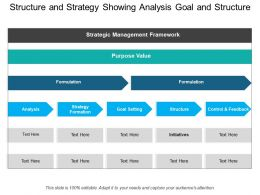 Structure And Strategy Showing Analysis Goal And Structure