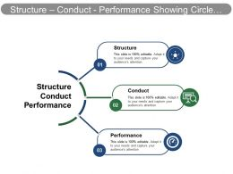 Structure Conduct Performance Showing Circle Chart
