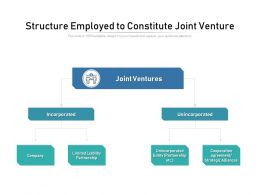 Structure Employed To Constitute Joint Venture