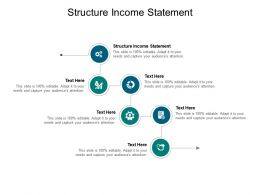 Structure Income Statement Ppt Powerpoint Presentation Pictures Brochure Cpb