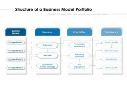 Structure Of A Business Model Portfolio
