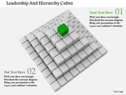 Structure Of Cubes For Leadership And Hierarchy