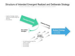 Structure Of Intended Emergent Realized And Deliberate Strategy