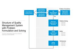 Structure Of Quality Management System With Problem Formulation And Solving