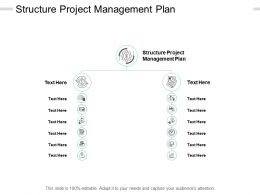 Structure Project Management Plan Ppt Powerpoint Presentation File Formats Cpb