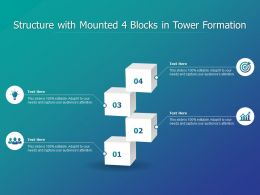 Structure With Mounted 4 Blocks In Tower Formation