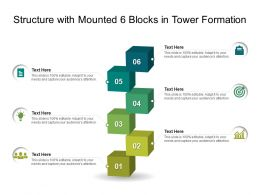 Structure With Mounted 6 Blocks In Tower Formation