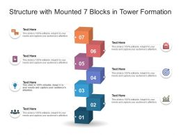 Structure With Mounted 7 Blocks In Tower Formation