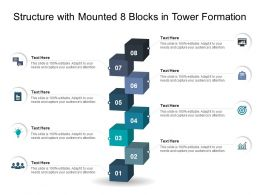 Structure With Mounted 8 Blocks In Tower Formation