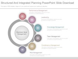Structured And Integrated Planning Powerpoint Slide Download