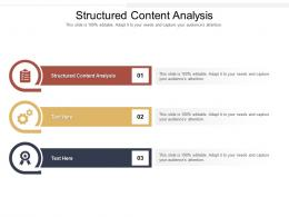 Structured Content Analysis Ppt Powerpoint Presentation File Formats Cpb