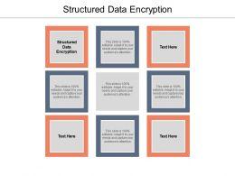 Structured Data Encryption Ppt Powerpoint Presentation Portfolio Master Slide Cpb