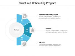 Structured Onboarding Program Ppt Powerpoint Presentation Visual Aids Model Cpb