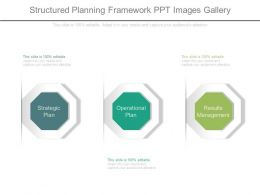 Structured Planning Framework Ppt Images Gallery