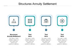 Structures Annuity Settlement Ppt Powerpoint Presentation Icon Diagrams Cpb