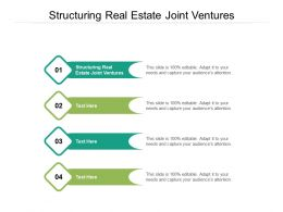 Structuring Real Estate Joint Ventures Ppt Powerpoint Presentation Professional Graphic Tips Cpb