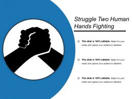 Struggle Two Human Hands Fighting