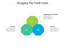 Struggling Pay Credit Cards Ppt Powerpoint Presentation Styles Visuals Cpb