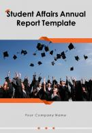 Student Affairs Annual Report Template PDF DOC PPT Document Report Template