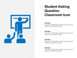 Student Asking Question Classroom Icon