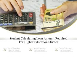 Student Calculating Loan Amount Required For Higher Education Studies