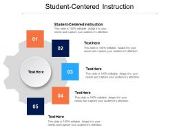 Student Centered Instruction Ppt Powerpoint Presentation Pictures Layout Cpb
