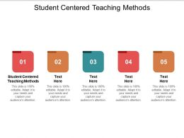 Student Centered Teaching Methods Ppt Powerpoint Presentation Professional Graphics Example Cpb
