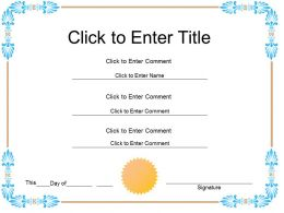 Student Completion diploma Certificate Template of Appreciation completion PowerPoint for Kids
