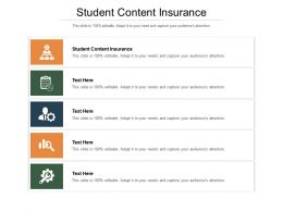 Student Content Insurance Ppt Powerpoint Presentation Icon Diagrams Cpb