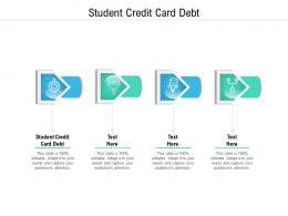Student Credit Card Debt Ppt Powerpoint Presentation Inspiration Themes Cpb