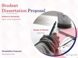 Student Dissertation Proposal Powerpoint Presentation Slides