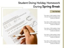 Student Doing Holiday Homework During Spring Break