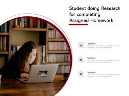 Student Doing Research For Completing Assigned Homework