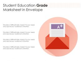Student Education Grade Marksheet In Envelope