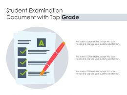 Student Examination Document With Top Grade