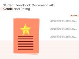 Student Feedback Document With Grade And Rating